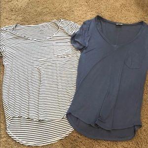 Hollister & Tilly's v neck t shirts XS